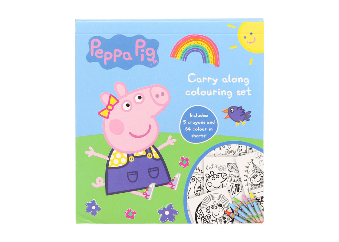 On Demand Coloring Book Printing Relaxing Stress Relieving Peppa Pig