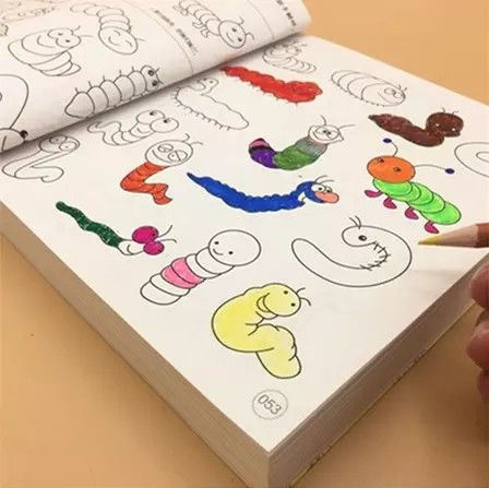 Blank Coloring Book Pages For Kids Water Brush Pen Magic Water Painting