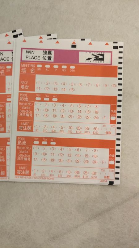 Paper Lottery Ticket Pape Horse Racing Secure Custom Event Ticket Printing