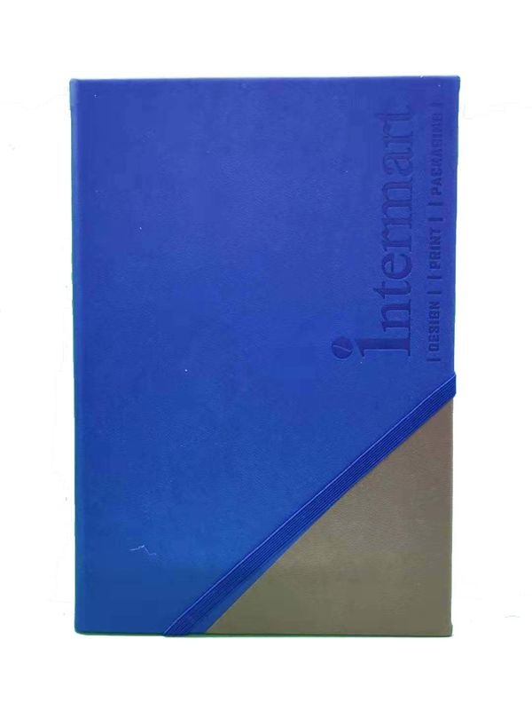 Blue PU Hardcover Custom Journal Printing 8.39*5.71'' Compact Size Sedex