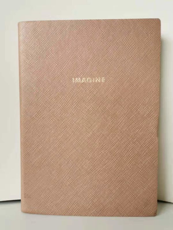Promotional Products Custom Made Journal Book Sewing Binding With A Pink PU Cover